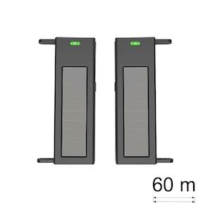 Barrera electrónica con alimentación solar 2 haces 60 m