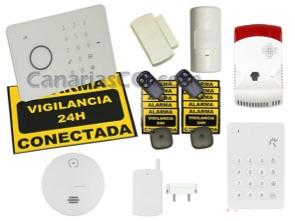 1111131 Kit sistema inalámbrico de alarma GSM Aurora Touch G5 seguridad extra