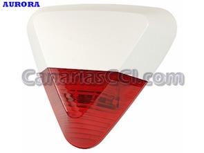 Ref. 1111202 Sirena inalámbrica exterior 105 dB con luz estroboscópica alarmas Aurora GSM