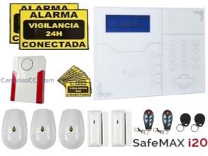 1111303 Kit completo alarma inalámbrica híbrida GSM LAN Safemax i20