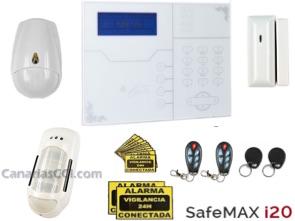 1111315 Kit alarma interior y perimetral GSM y LAN Safemax i20
