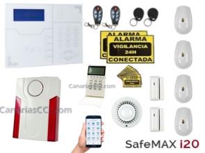 Alarma inalámbrica Safemax i20 GSM y LAN, sin cuotas 1111317