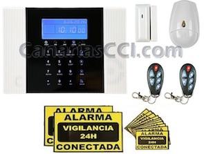 1111320 Sistema inalámbrico de alarma dual SAFEMAX G8 línea fija y GSM kit básico