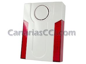 Ref. 1111380 Sirena exterior 110 dB con luz estroboscópica para alarma SAFEMAX