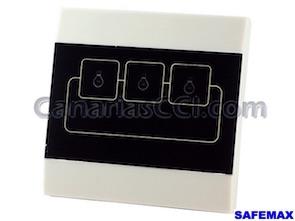 1111395 Interruptor domótico 3 aparatos o luces alarmas Safemax