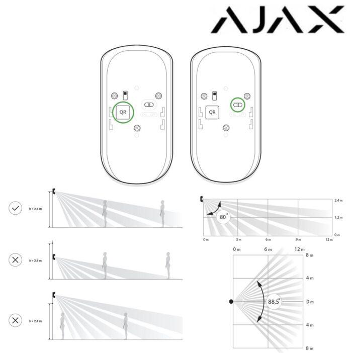 Detector de movimiento inalámbrico interior PIR Ajax MotionProtect 1111840-dibujos