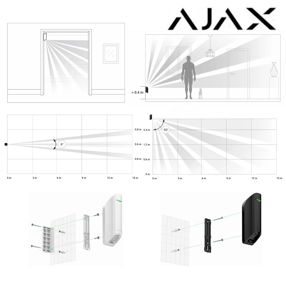 1111863 Sensor cortina Ajax MotionProtect Curtain