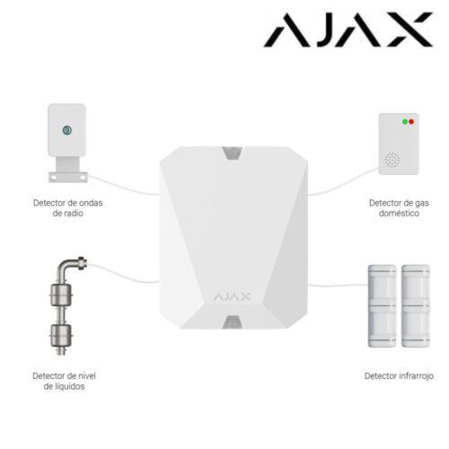Módulo de integración para 18 zonas cableadas Ajax MultiTransmitter
