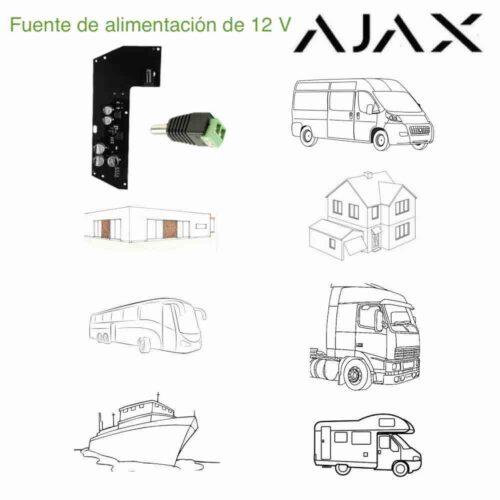 Fuente de alimentación de 12 V para Ajax Hub, repetidor ReX y Ajax Plus