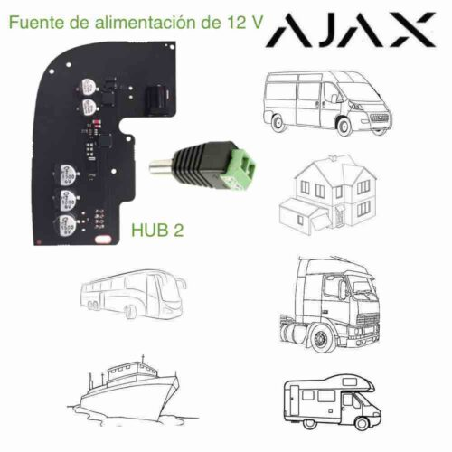 Fuente módulo de alimentación 12 V para Ajax Hub 2