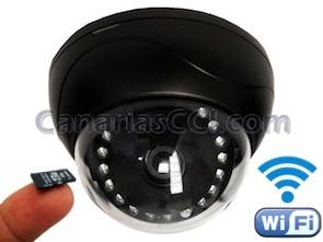 1120322 Cámara IP WiFi HD con grabación y visión nocturna domo interior