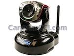 Cámara IP HD WiFi motorizada con visión nocturna y grabación digital SD