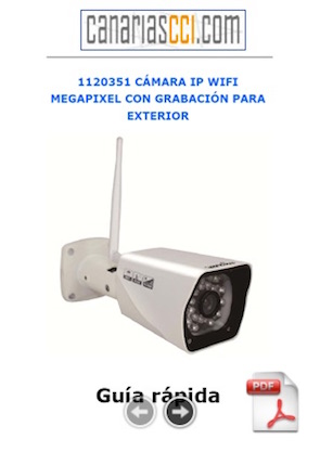 1120351 Manual de usuario cámara IP WiFi con grabación y visión nocturna para exterior
