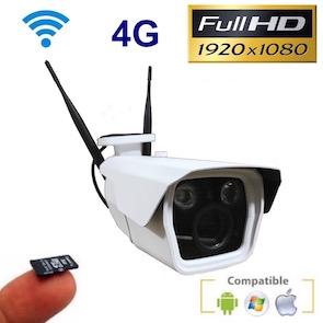 Cámara 4G 1080P con lente varifocal y grabación en microSD