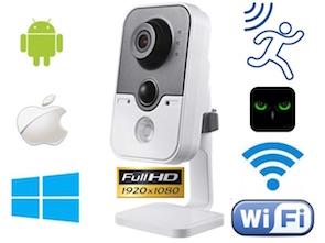 1120420 Cámara IP Full-HD WiFi con visión nocturna, detección de movimiento y grabación SD