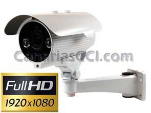 112'465 Cámara IP Full-HD exterior con visión nocturna 30 metros lente varifocal 2,8 - 12 mm