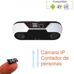 Cámara IP cuenta personas con grabación 1120535