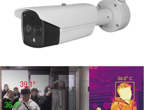 Cámara IP termográfica para detección de fiebre