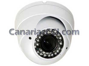1130268 Cámara de seguridad antivandalica de alta resolución de 800 TVL con visión nocturna de 30 m y lente varifocal