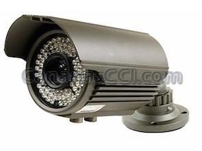 Cámara de vídeo vigilancia 700 TVL varifocal con visión nocturna 50 m exterior