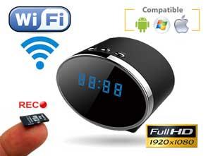 1130543 Cámara espía reloj IP WiFi FullHD con grabación y visión nocturna