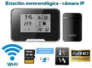 Cámara espía IP WiFi Full HD con grabador SD camuflada en la estación meteorológica digital