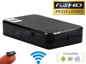 Cámara oculta espía Black Box IP Full-HD 1080P con grabación SD y conexión WiFi