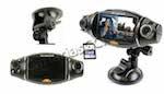 HD CAR DVR 2 cámaras para coche con grabador digital en tarjeta SD, pantalla LCD y Tracker GPS en uno
