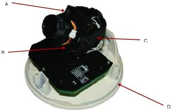 Cámara IP 1,3 Megapixeles mini domo con grabador digital Micro SD FW 1174MC
