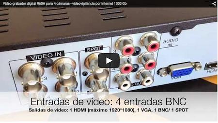 Video Vídeo grabador digital 960 H para 4 cámaras - videovigilancia por Internet