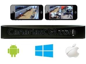 Grabador digital H.264 960H videovigilancia IP para 4 cámaras