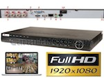 Vídeo grabador digital FullHD 1080P de alta resolución HD-SDI 1920x1080 4 canales videovigilancia LAN Internet