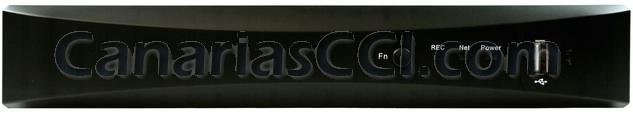 front Grabador digital 960H H.264 videovigilancia IP para 4 cámaras con sistema de alarma
