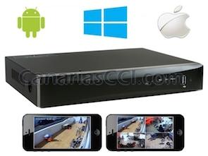 Grabador digital 960H H.264 videovigilancia IP para 4 cámaras con sistema de alarma