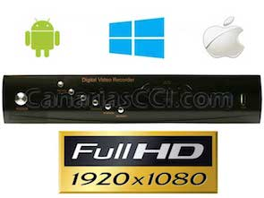 Grabador digital Full-HD-TVI videovigilancia IP H.264 para 4 cámaras1132170