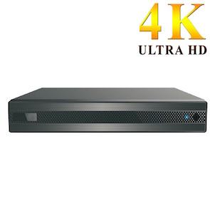 Grabador 4K UHD H265+ para 4 cámaras cableadas y 2 cámaras IP