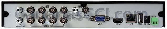 Grabador digital 960H H.264 videovigilancia IP para 8 cámaras