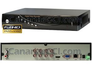 1132270 Grabador digital Full-HD-TVI videovigilancia IP H.264 para 8 cámaras