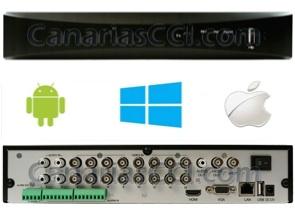 Grabador digital H.264 960H videovigilancia IP para 16 cámaras y sistema de alarma