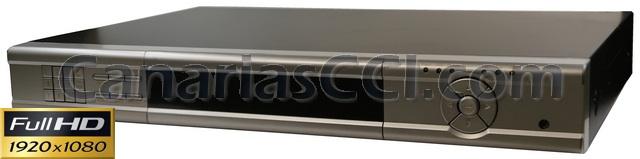 Ref. 1132370 Grabador digital Full-HD-TVI video televigilancia IP H.264 para 16 cámaras