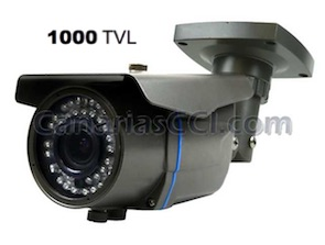 1133125 Cámara exterior varifocal 1000 TVL visión nocturna 40 m