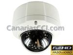 Cámara domo antivandálica exterior 1000 TVL Full-HD con LEDS infrarrojos 30 m y lente varifocal
