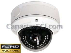 Ref. 1133506 Cámara Full-HD-TVI ext-int lente varifocal y Leds IR 30 m