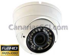 Cámara Full-HD-TVI Leds IR con lente varifocal IP66