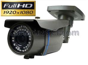 1133528 Cámara Full-HD TVI exterior con lente varifocal y Leds Infrarrojos 40 m