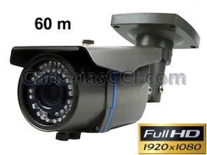 Cámara exterior Full-HD TVI con lente varifocal y visión nocturna 60 m