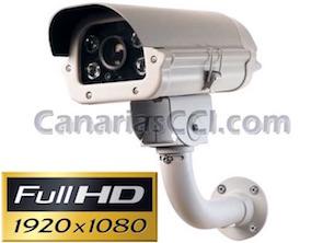1133550 Cámara varifocal de vídeo vigilancia exterior Full-HD TVI con visión nocturna 80 m