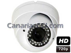 1133910 Cámara de seguridad domo varifocal HD 720P int&ext con Leds infrarrojos 30 m