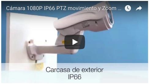 1134270 Cámara 1080P IP66 PTZ movimiento y Zoom motorizado y Leds infrarrojos 120 m