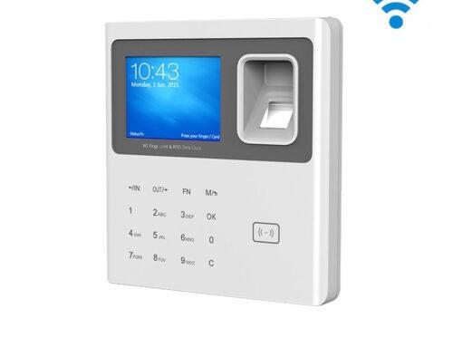 Control de presencia IP biométrico, con Wifi y batería de respaldo